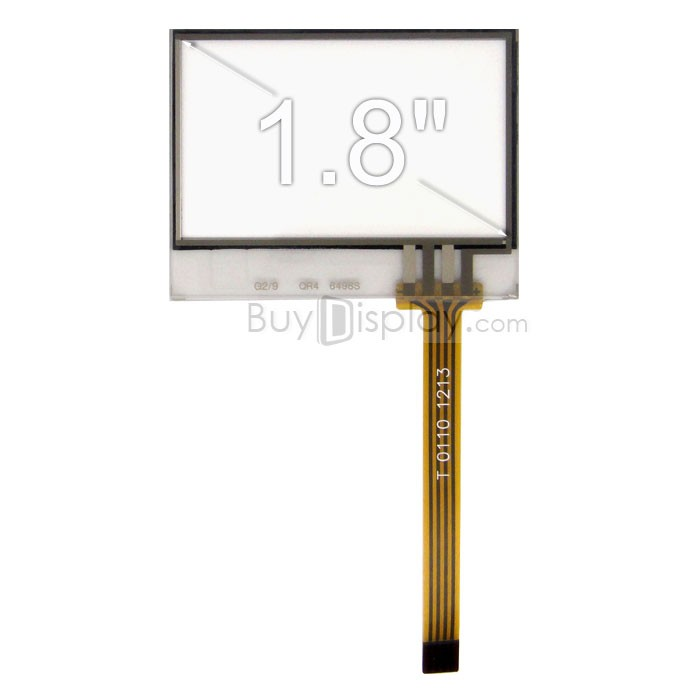 TFT LCD 모듈, 1.8인치, 해상도 128x64, 4 Wire Resistive Touch Screen Panel ER-TP018-1