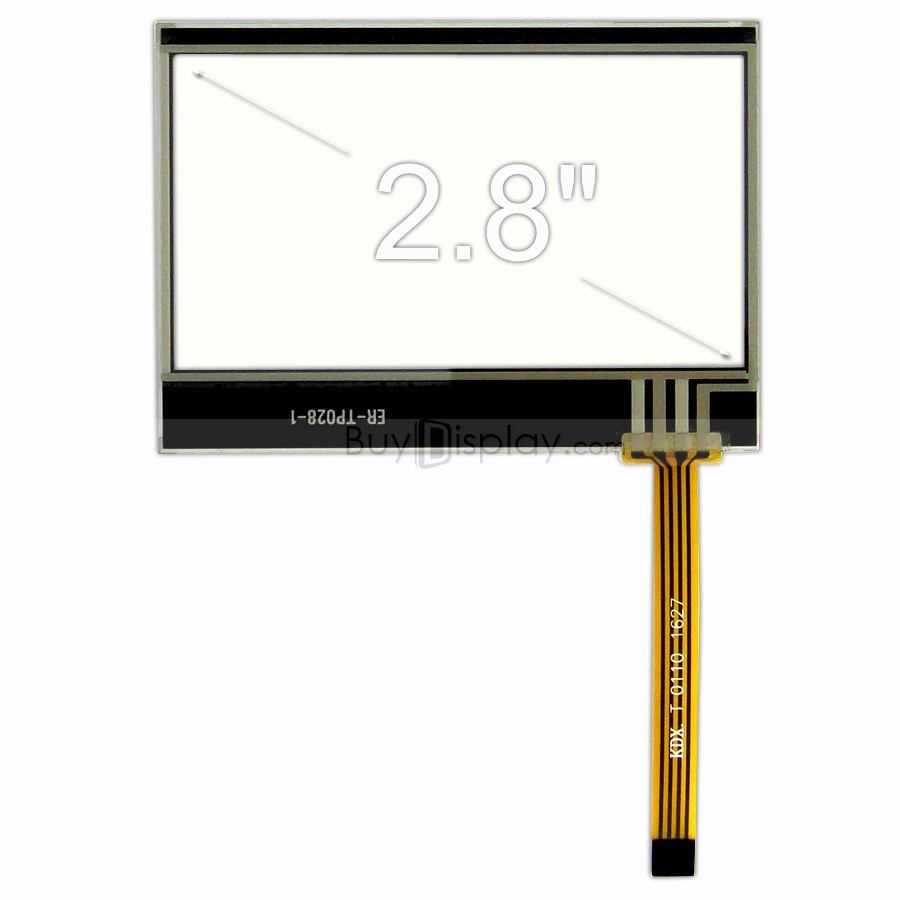TFT LCD 모듈, 2.8인치, 해상도 128x64, 4-Wire Resistive Touch Panel Screen ER-TP028-1