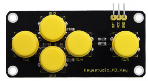Keyestudio AD KEY Button Module(Black and Eco-friendly)