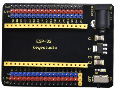 keyestudio ESP32-IO Shield (Black and Eco-friendly)