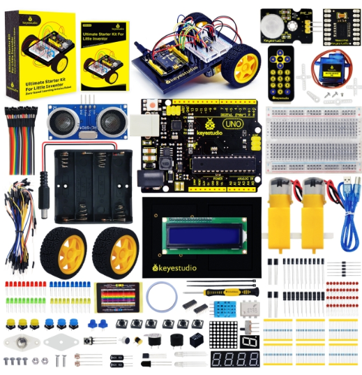 아두이노 스타터 키트 + 로봇 카 키트 / Arduino Ultimate Starter Kit + Robot Car Kit For Little Inventor