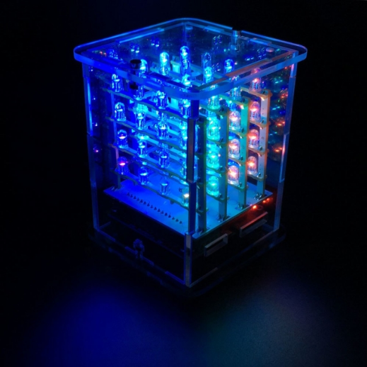 아두이노 4*4*4 RGB LED 큐브 만들기 키트 / 4*4*4 RGB LED Display CUBE Starter Kit