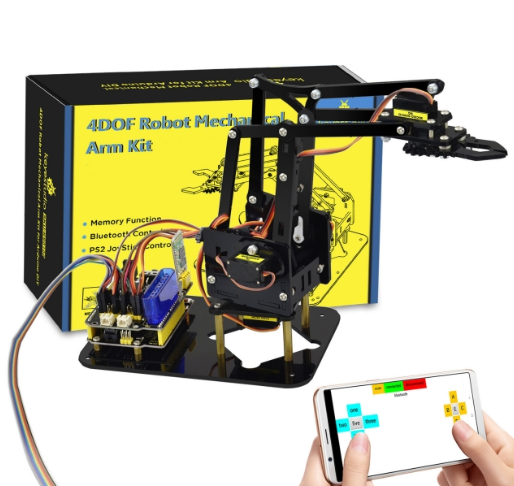 아두이노 아크릴 로봇 팔 키트 / 4DOF Acrylic Toys Robot Mechanical Arm Claw Kit