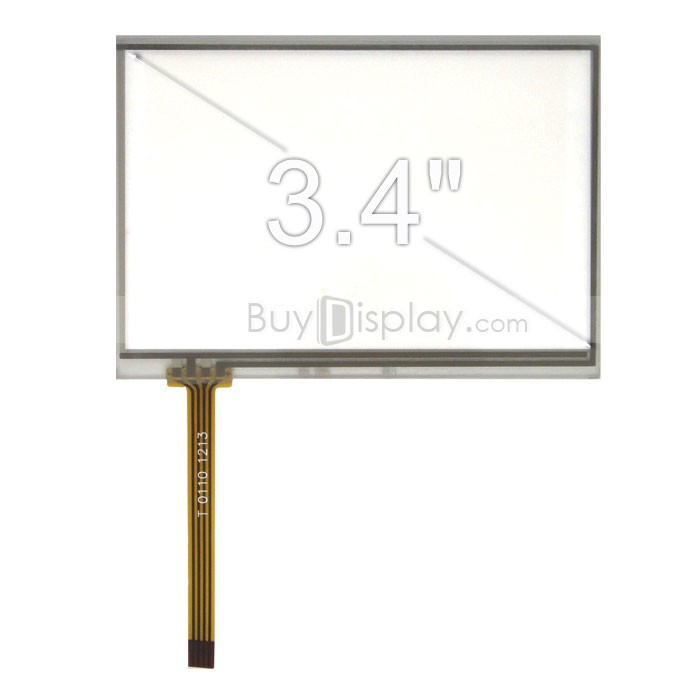 TFT LCD 모듈, 3.4인치, 해상도 240x160, 4 Wire Resistive Touch Screen Panel, ER-TP034-1