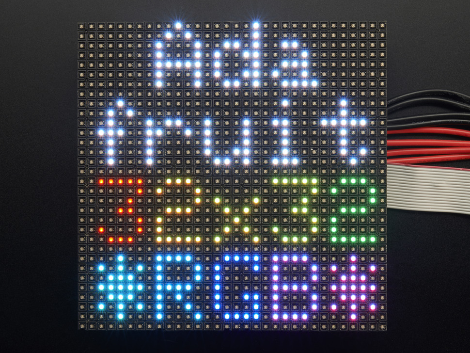 32x32 RGB LED 매트릭스 패널 - 4mm Pitch / 32x32 RGB LED Matrix Panel - 4mm Pitch [607]