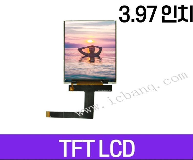 TFT LCD 모듈, 3.97인치, 해상도 480x800, MIPI Interface, MTF0397SWI-06
