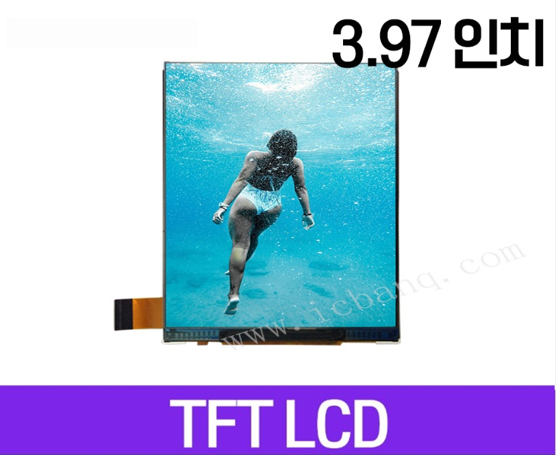TFT LCD 모듈, 3.97인치, 해상도 480x800, MIPI Interface, MTF0397SWI-07