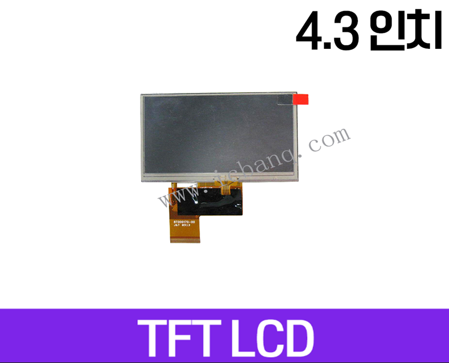 TFT LCD 모듈, 4.3인치, 해상도 480x272, Digital  Interface, WTY043QW41A01