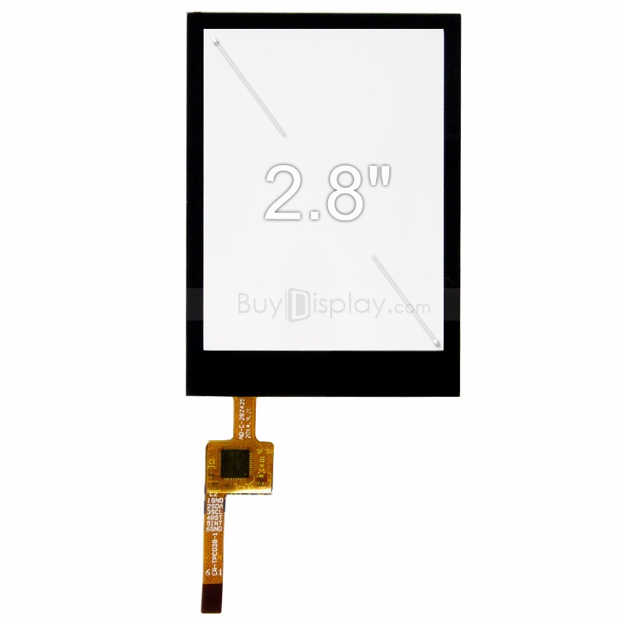 TFT LCD 모듈, 2.8인치, 해상도 240x320, Capacitive Touch Panel with Controller FT6206 ER-TPC028-4.1