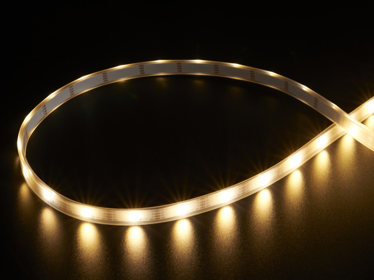 Adafruit DotStar LED Strip - APA102 Warm White - 30 LED/m - ~3000K [2435]/5m