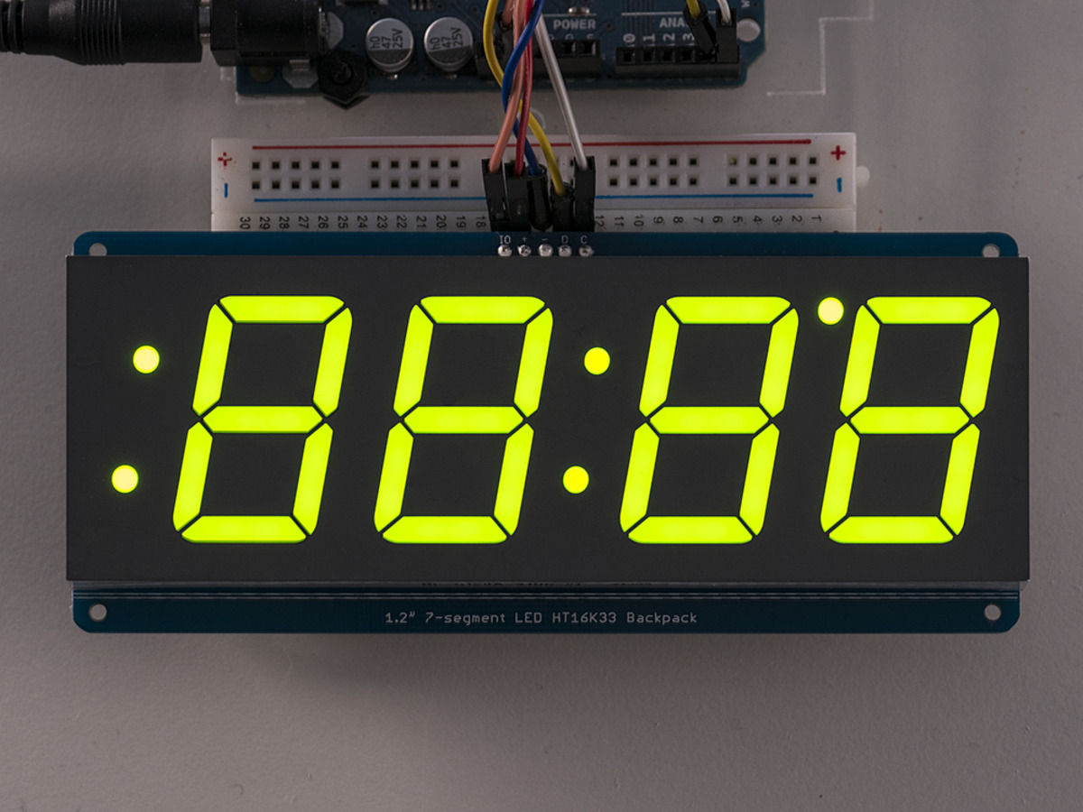 Adafruit 1.2inch 4-Digit 7-Segment Display w/I2C Backpack - Green [1268]