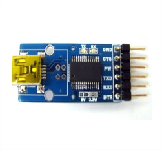 [GS-792] [GS-FT232RL-A + Mini USB + 5.0V-TOP] 변환기판, 학습모듈